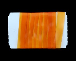 Stretch Glass, 10mm, Orange