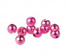Tungsten Beads, Slotted, Metallic Pink, 4.0 mm