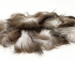 Silver Fox Tail, Medium, Natural Dark