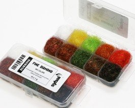 Fine Diamond Dubbing, Box, Mix Colors