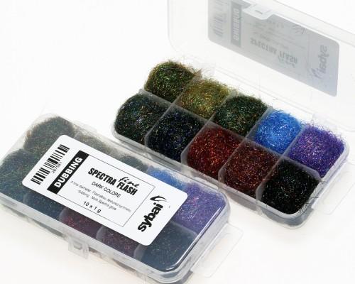 Fine Spectra Flash Dubbing, Box, Dark Colors