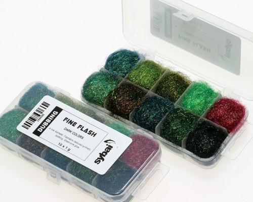 Fine Flash Dubbing, Box, Dark Colors