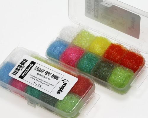 Fine UV Ice Dubbing, Box, Bright Colors