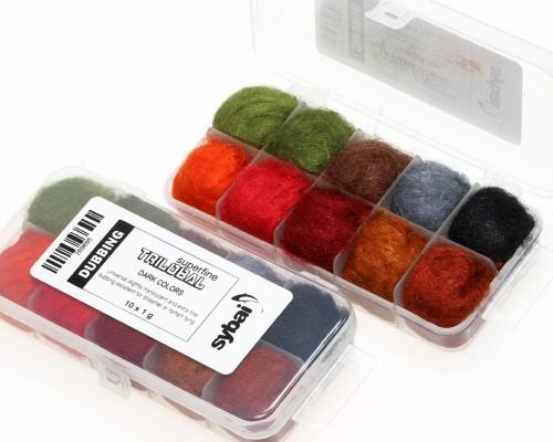 Trilobal Superfine Dubbing, Box, Dark Colors