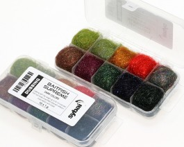 Baitfish Supreme Dubbing, Box, Dark Colors