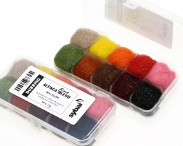 Fine Alpaca Blend Dubbing, Box, Mix Colors