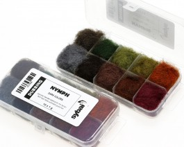 Nymph Dubbing, Box, Dark Colors