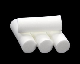Foam Popper Cylinders, White, 14 mm