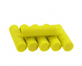 Foam Popper Cylinders, Yellow, 12 mm