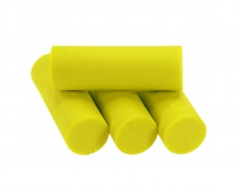 Foam Popper Cylinders, Yellow, 14 mm