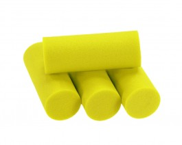 Foam Popper Cylinders, Yellow, 16 mm