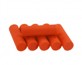 Foam Popper Cylinders, Orange, 12 mm