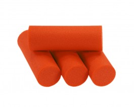 Foam Popper Cylinders, Orange, 14 mm