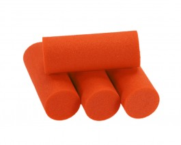Foam Popper Cylinders, Orange, 16 mm