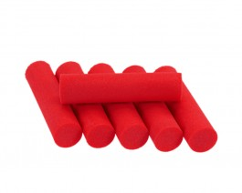 Foam Popper Cylinders, Red, 10 mm