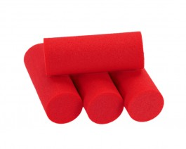 Foam Popper Cylinders, Red, 16 mm