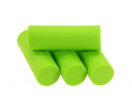 Foam Popper Cylinders, Chartreuse, 14 mm
