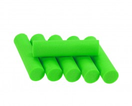 Foam Popper Cylinders, Green, 10 mm