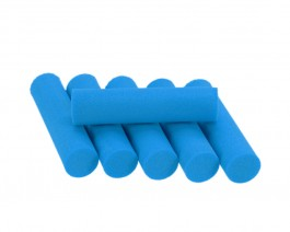 Foam Popper Cylinders, Blue, 10 mm