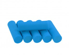 Foam Popper Cylinders, Blue, 12 mm