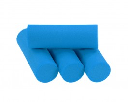 Foam Popper Cylinders, Blue, 14 mm