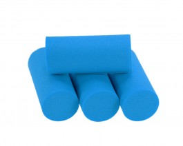Foam Popper Cylinders, Blue, 18 mm
