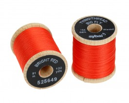 Tying Thread Big Fly, Bright Red