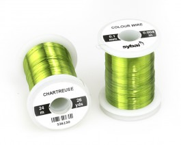 Colour Wire, 0.1 mm, Chartreuse