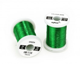 Colour Wire, 0.1 mm, Green