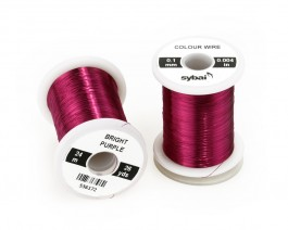 Colour Wire, 0.1 mm, Bright Purple