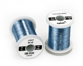 Colour Wire, 0.1 mm, Light Blue