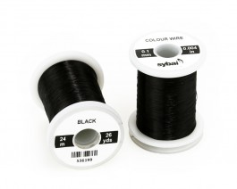 Colour Wire, 0.1 mm, Black