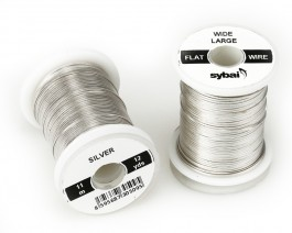 Flat Colour Wire, Large, Wide, Silver