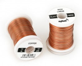 Flat Colour Wire, Large, Wide, Copper