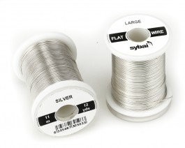 Flat Colour Wire, Large, Silver