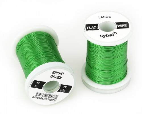 Flat Colour Wire, Large, Bright Green