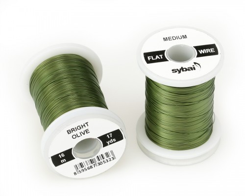 Flat Colour Wire, Medium, Bright Olive