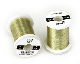 Flat Colour Wire, Ultrafine, Light Gold