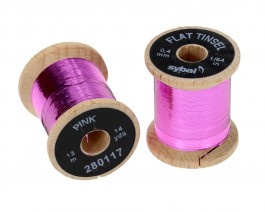 Flat Tinsel, 0.4 mm, Pink