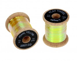Flat Tinsel, 0.4 mm, Pearl Yellow