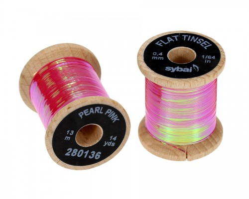 Flat Tinsel, 0.4 mm, Pearl Pink
